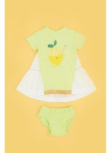 BG Baby Kız Bebek Neon Yeşil Elbise Yeşil
